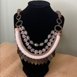 ANTHROPOLOGIE ACRYLIC LAYERED STATEMENT NECKLACE